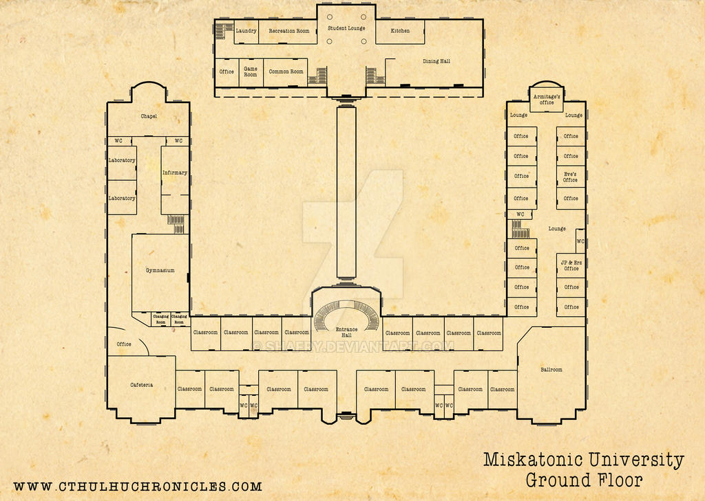 Miskatonic University: Ground Floor by shafry