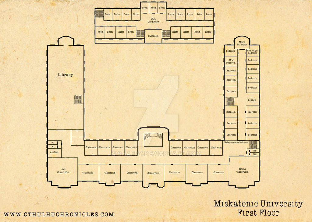 Miskatonic University: First Floor by shafry