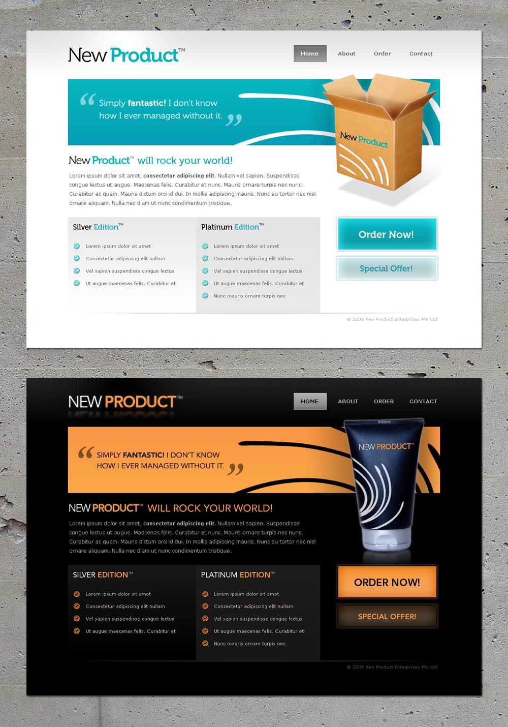 New Website Template. 50 best flat design website templates free ...