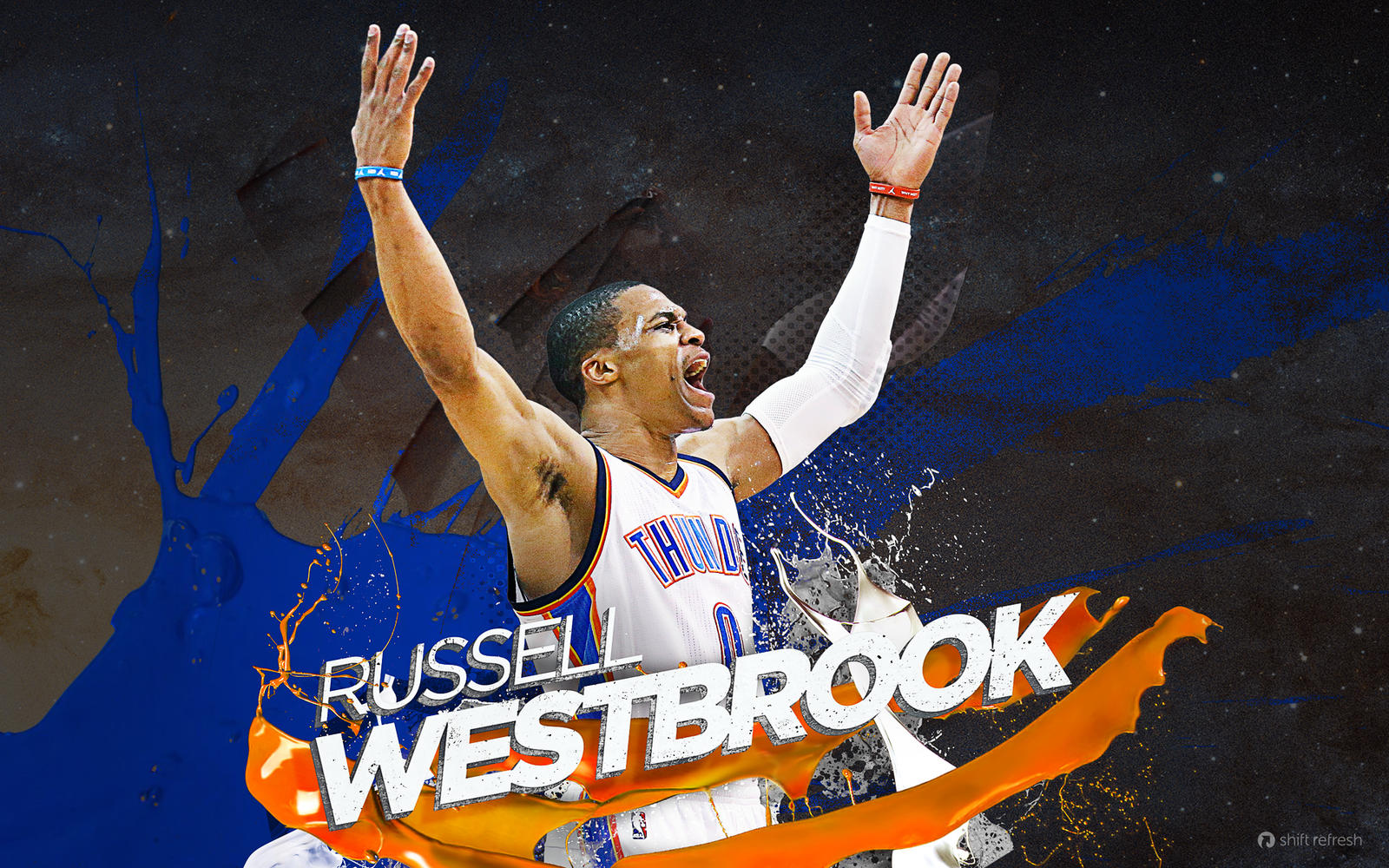 russell westbrook wallpaper by skythlee on deviantart