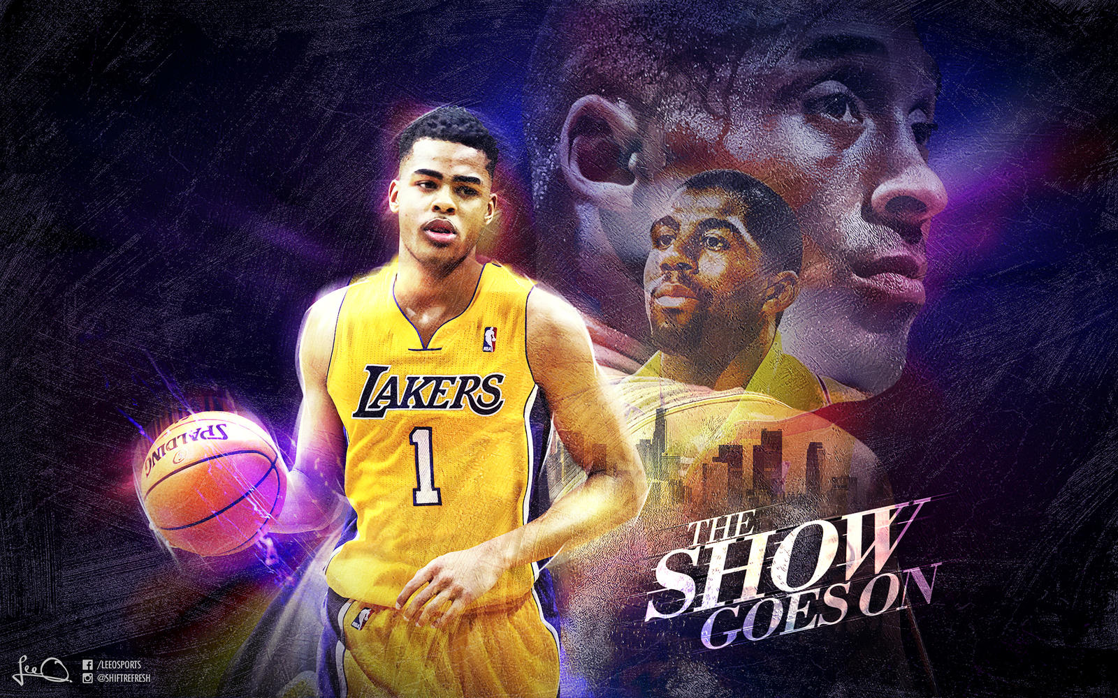 d 39 angelo russell lakers wallpaper by skythlee on deviantart