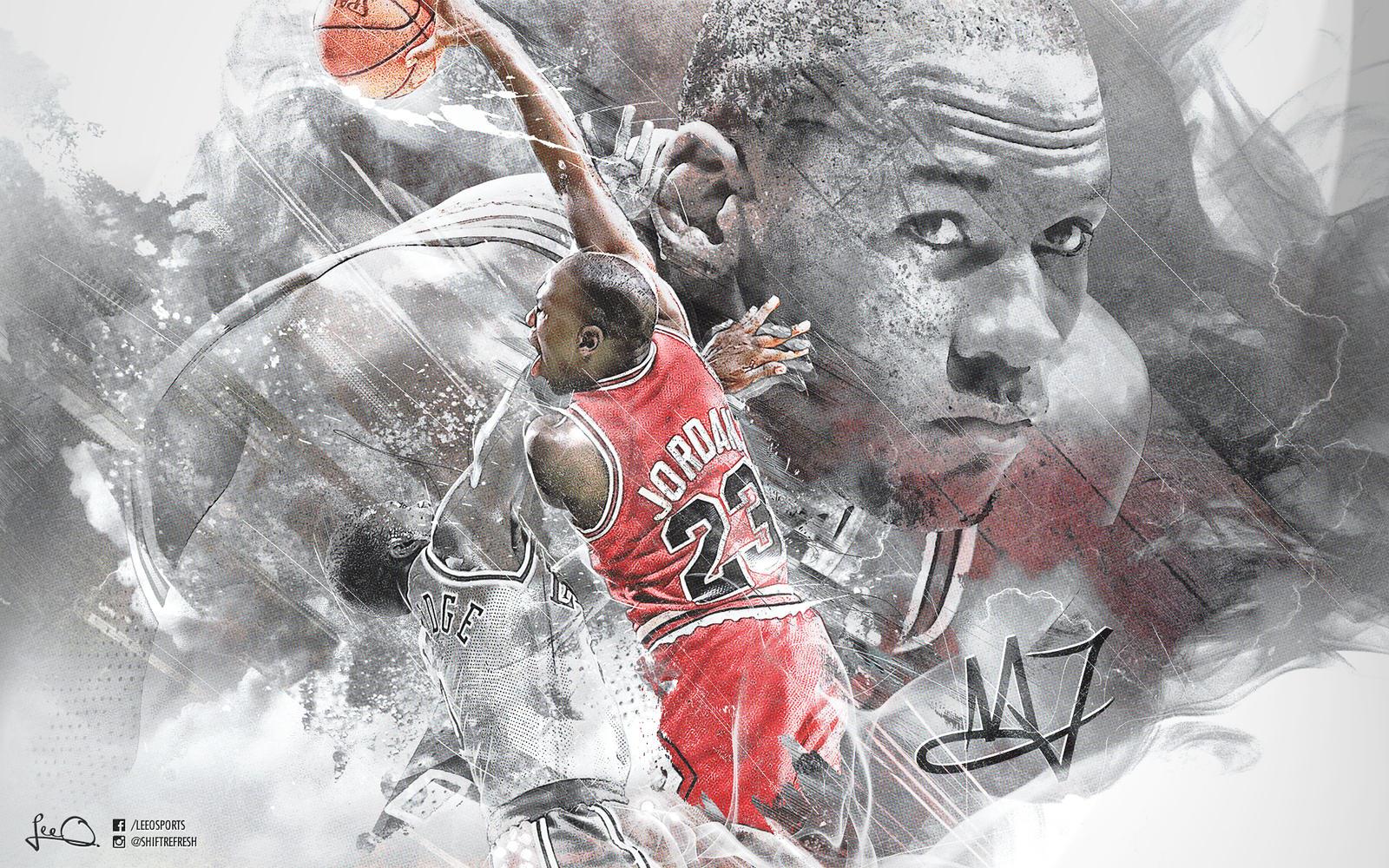 Michael Jordan Fan Art: Michael Jordan Wallpaper By Skythlee On DeviantArt