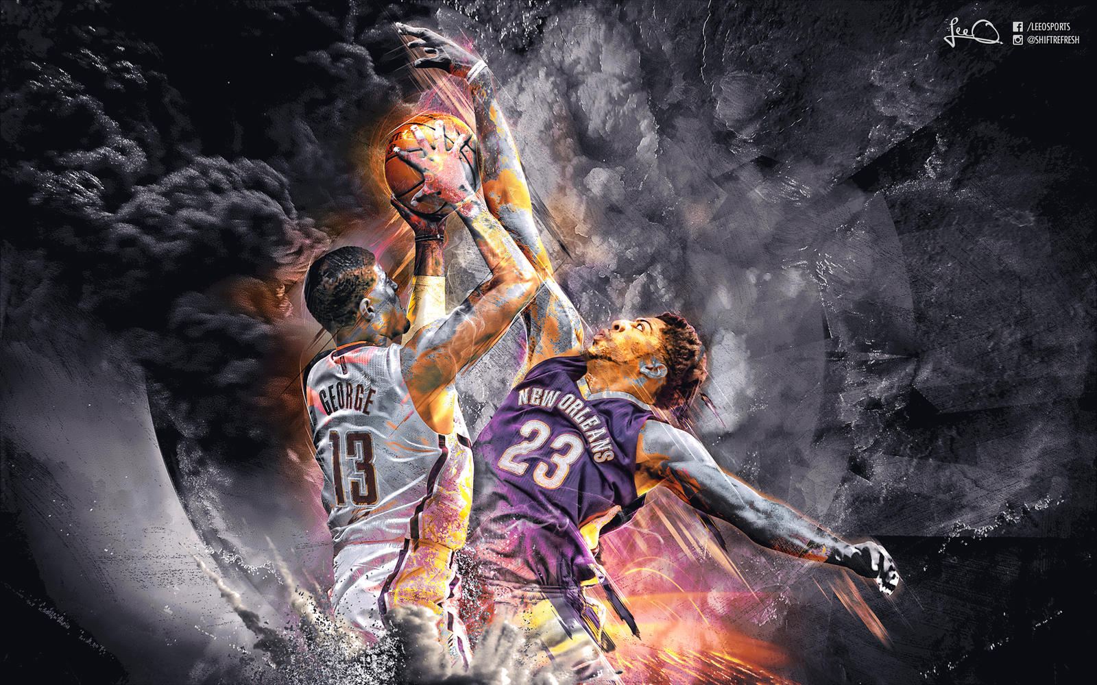 Paul George vs Anthony Davis Wallpaper by skythlee on ...