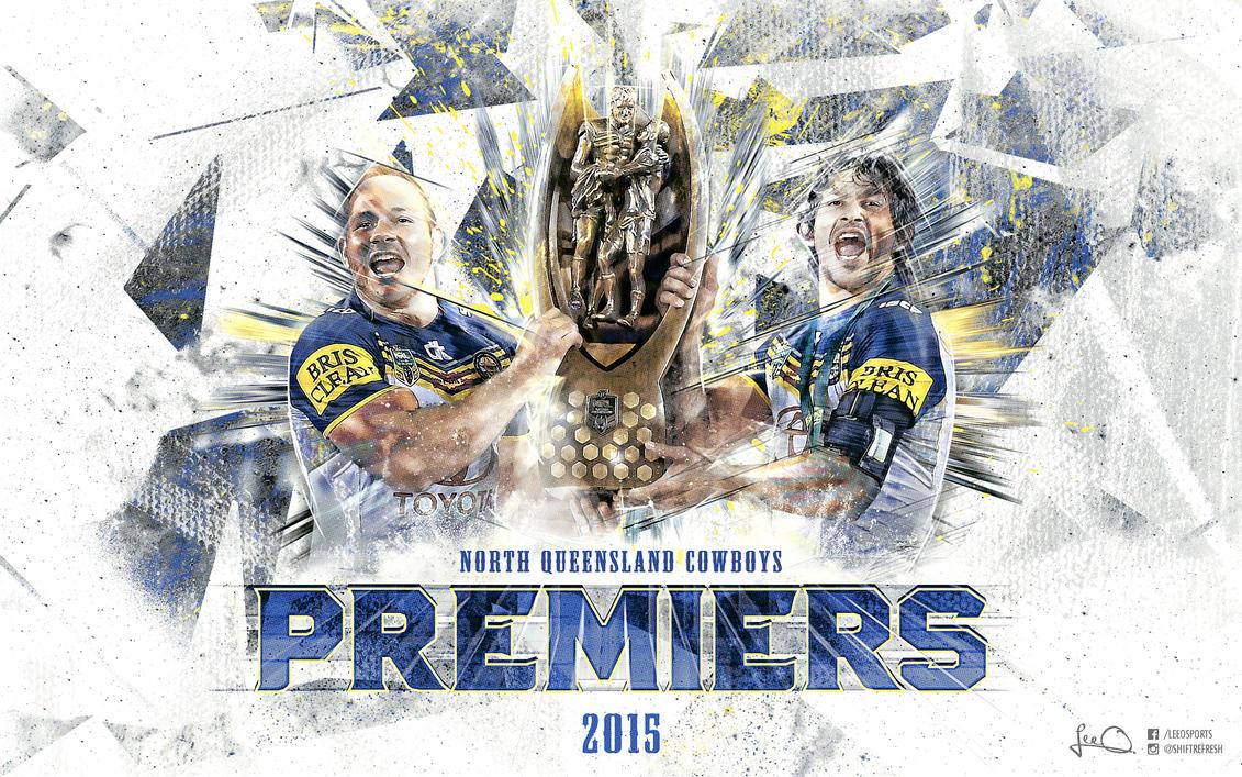 NQ Cowboys 2015 NRL Premiers Wallpaper by skythlee