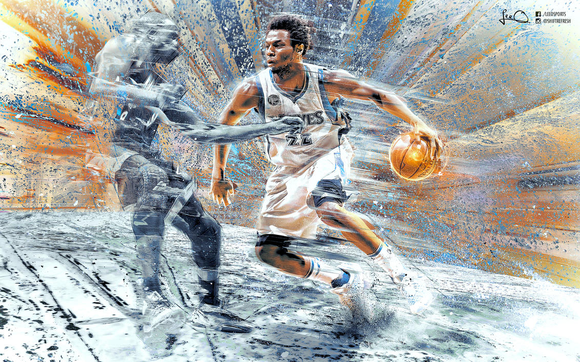 Andrew Wiggins NBA Wallpaper 2.0 by skythlee on DeviantArt