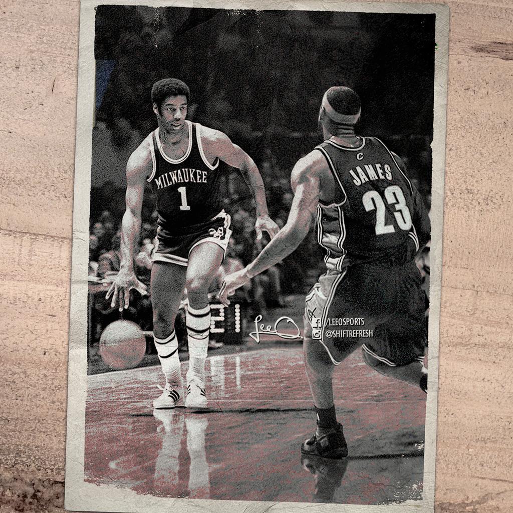 NBA Time Machine Oscar Robertson v Lebron James by skythlee on