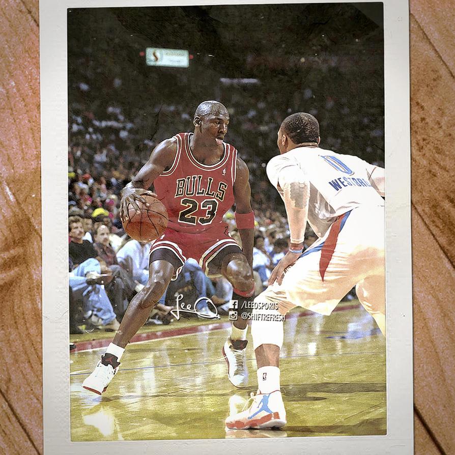 Michael Jordan vs Russell Westbrook by skythlee