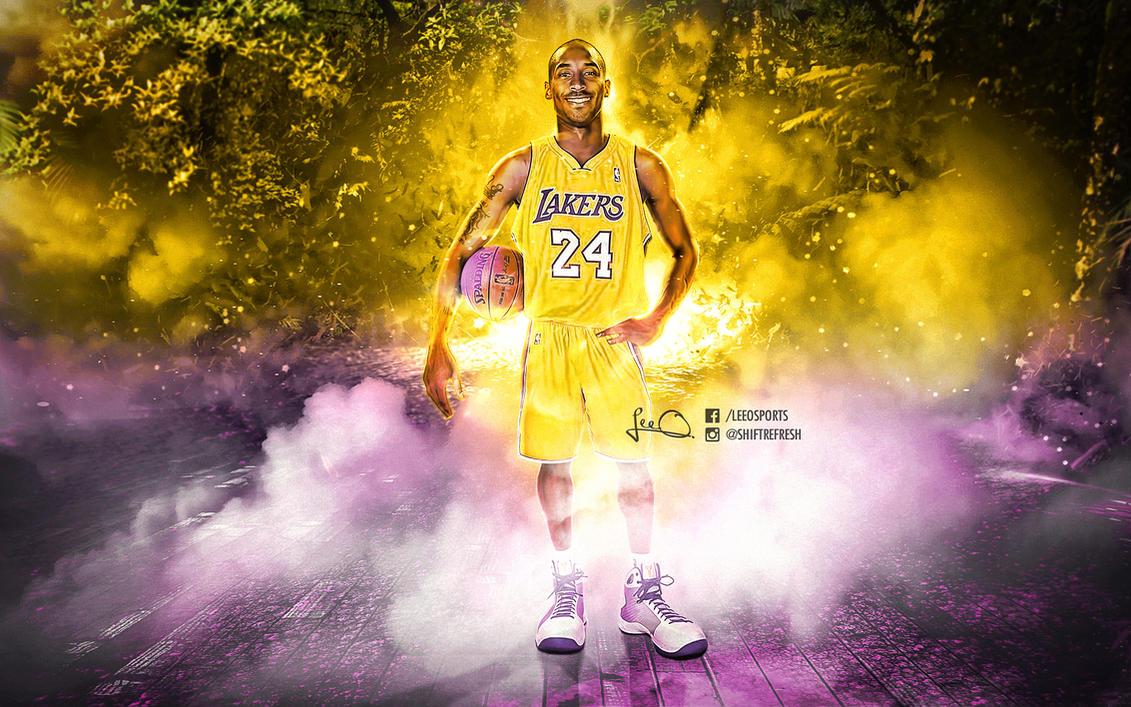 Kobe Bryant NBA Caricature Wallpaper by skythlee