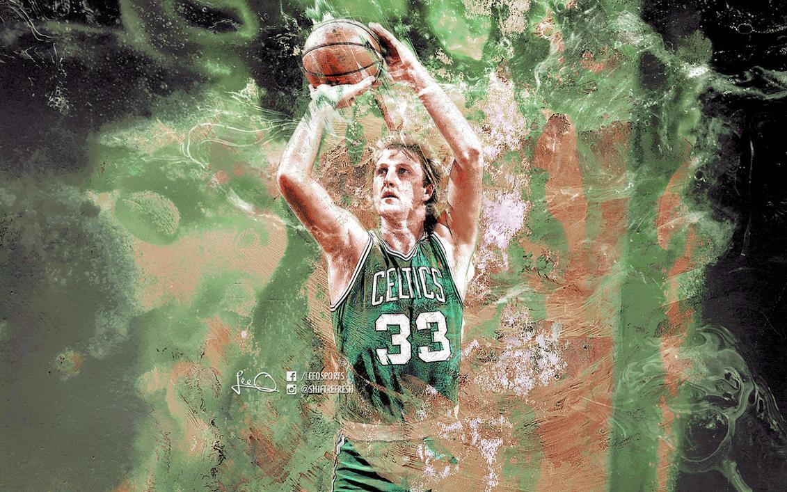 Larry Bird NBA Wallpaper by skythlee