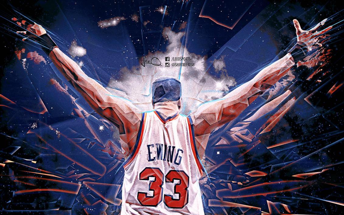 Patrick Ewing NBA Wallpaper by skythlee