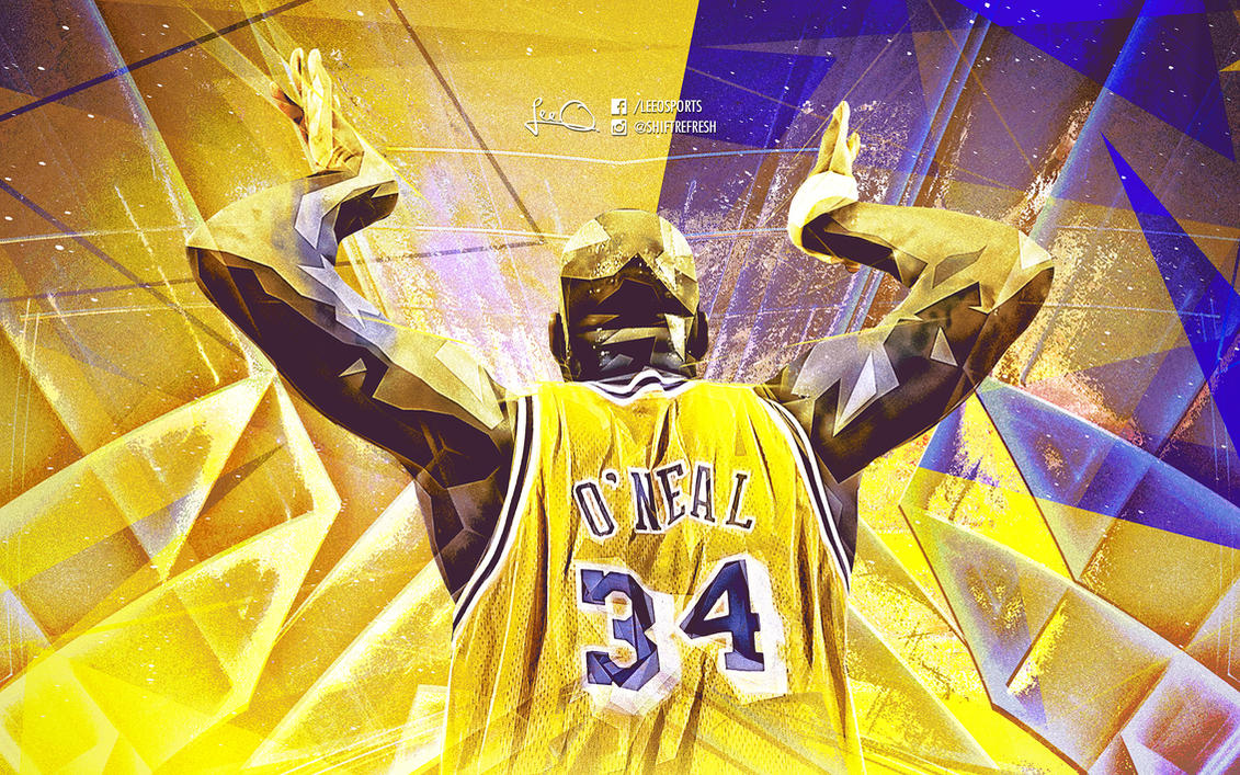 Shaquille O\'Neal NBA Wallpaper by skythlee on DeviantArt