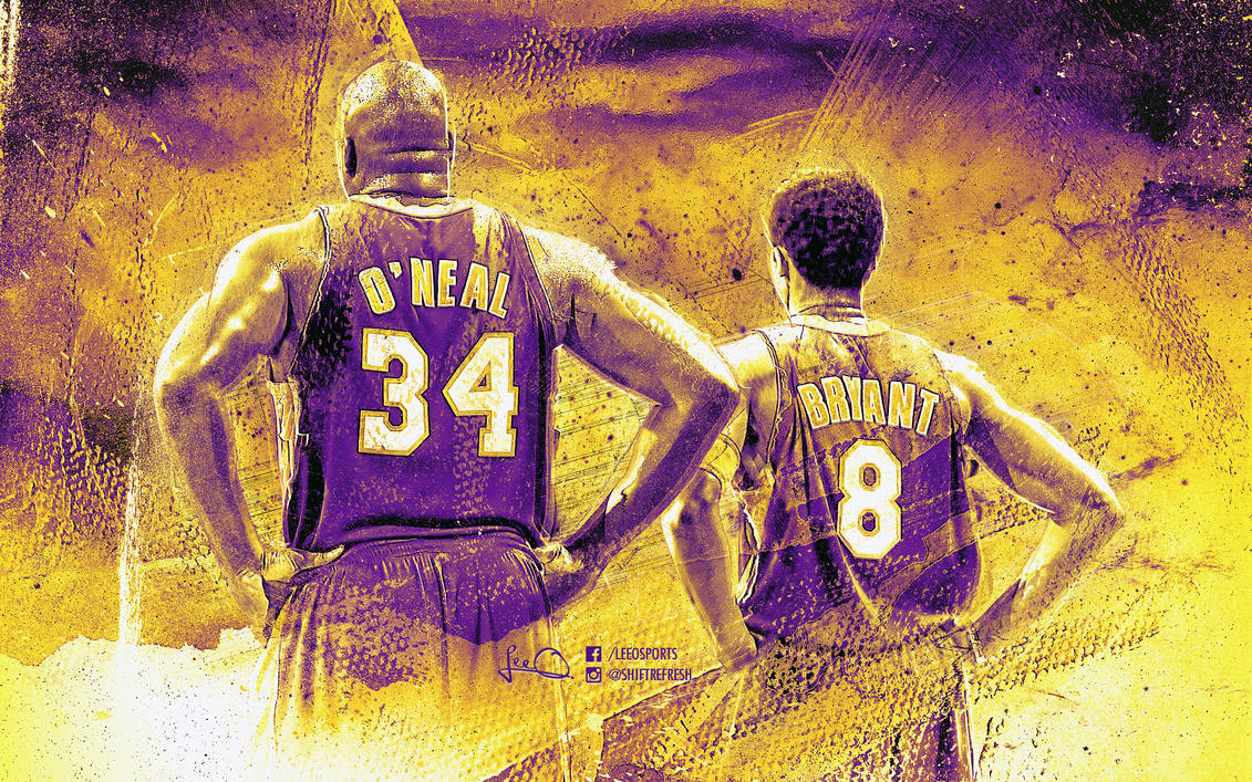 Shaq and Kobe Lakers Wallpaper by skythlee ...