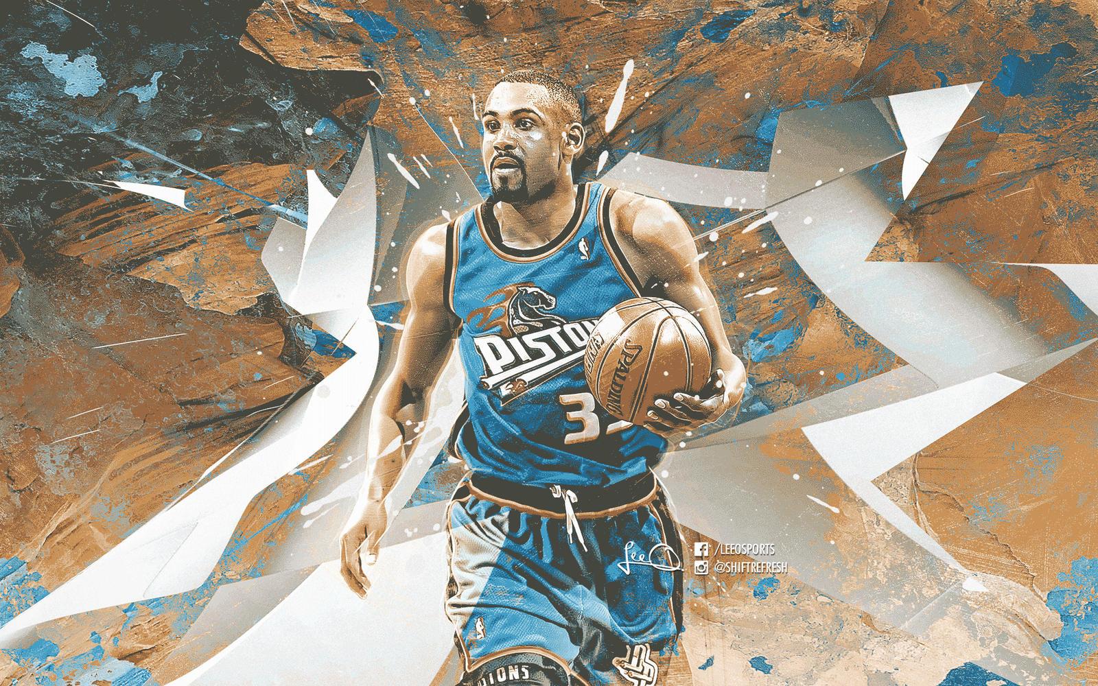 Grant Hill Pistons NBA Wallpaper by skythlee on DeviantArt