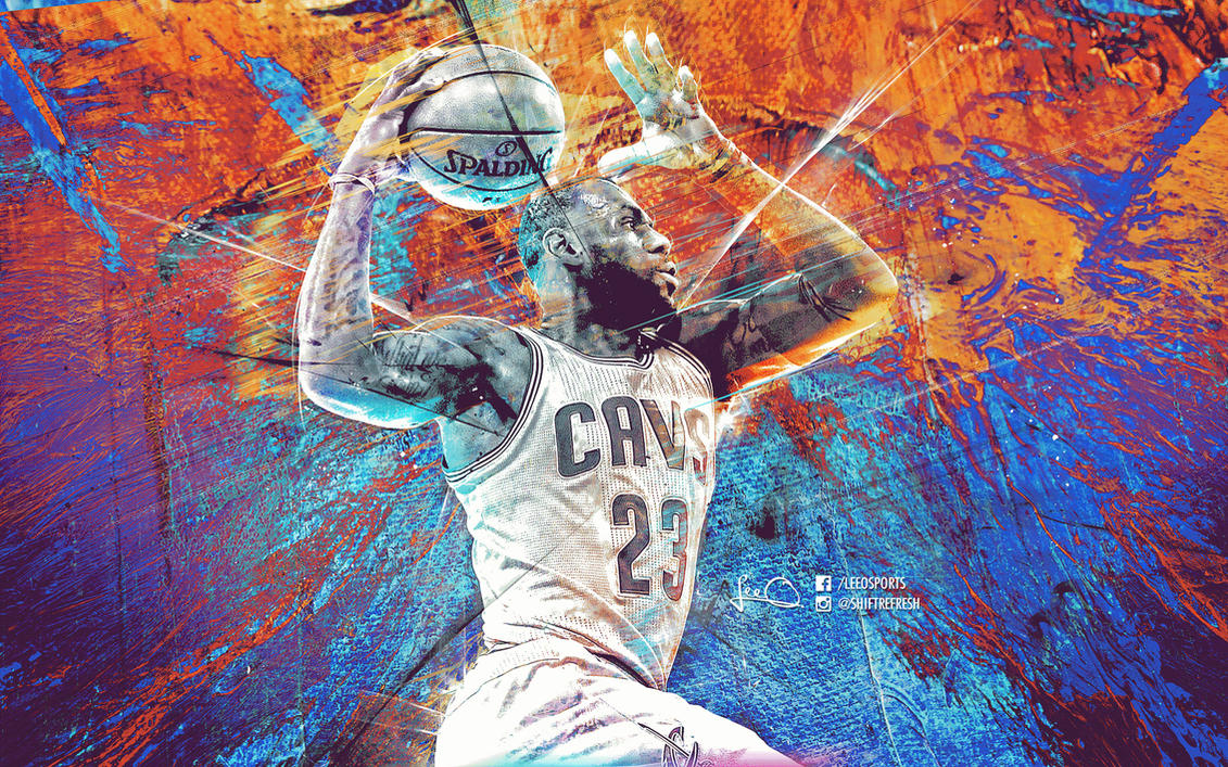 Lebron James NBA Art Wallpaper By Skythlee