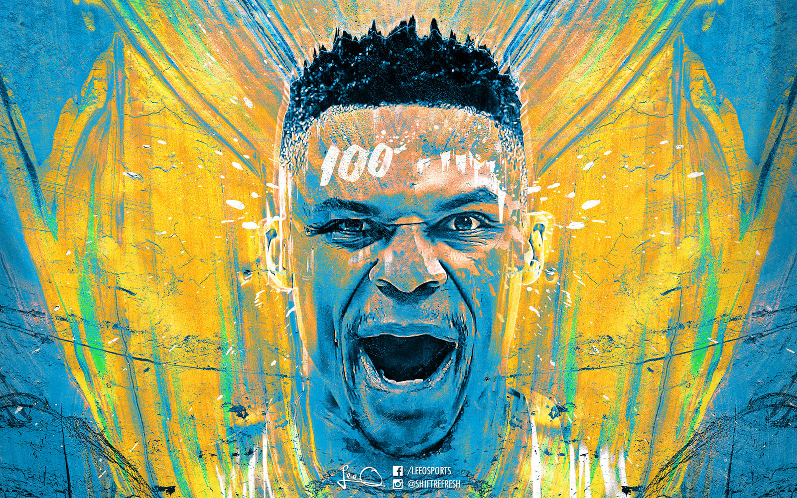 russell westbrook keep it 100 wallpaper by skythlee on