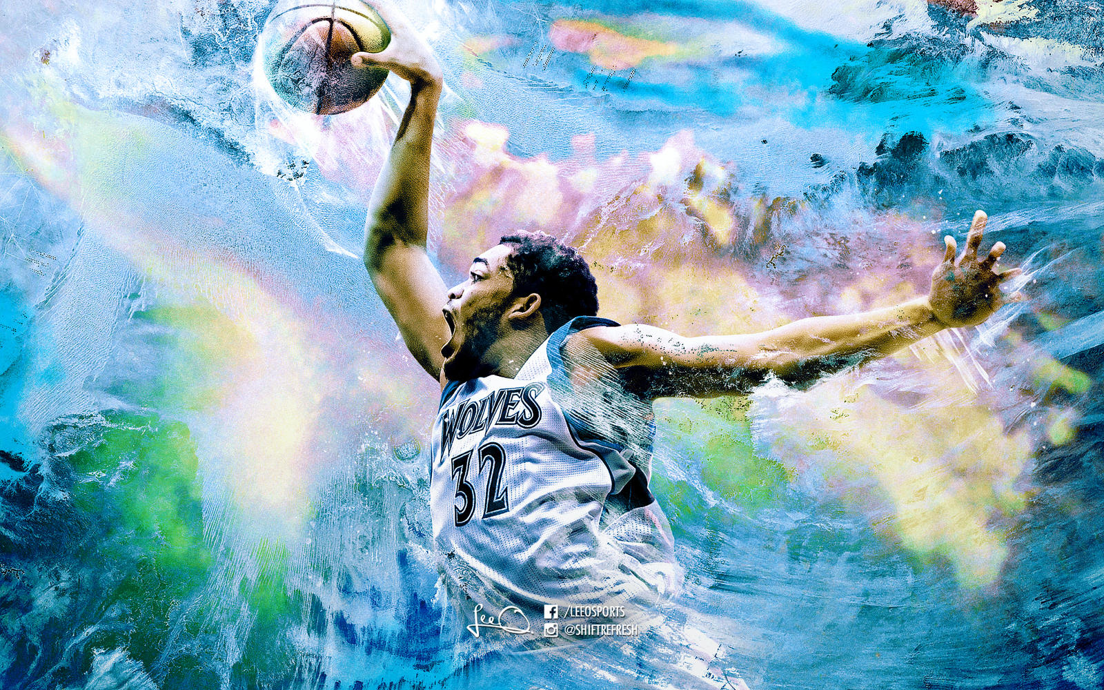 Karl-Anthony Towns NBA Wallpaper by skythlee on DeviantArt