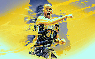 Reggie Miller NBA Wallpaper by skythlee