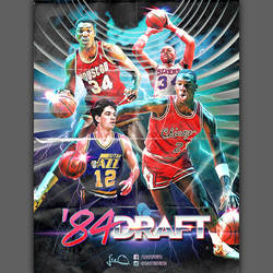 1984 NBA Draft Poster Design Tribute by skythlee