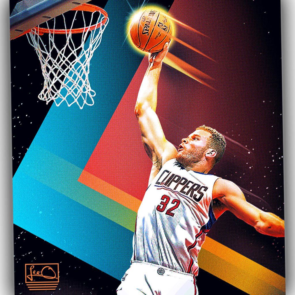 Blake Griffin NBA Skybox Inspired Design By Skythlee On