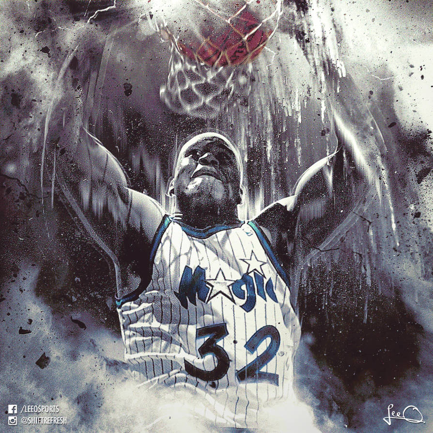 Shaquille O'Neal Orlando Magic NBA Artwork by skythlee on De