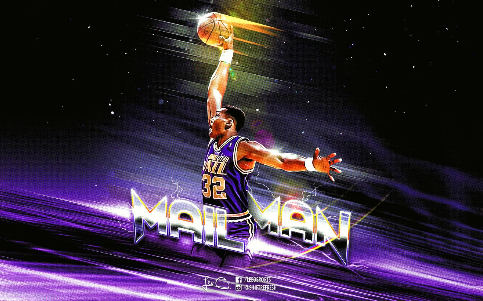 Karl Malone Mailmain NBA wallpaper by skythlee on DeviantArt
