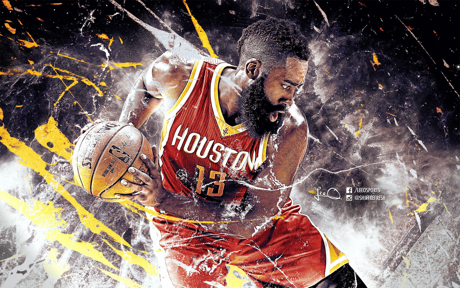 Basketball Player James Harden Wallpaper: James Harden NBA Wallpaper By Skythlee On DeviantArt