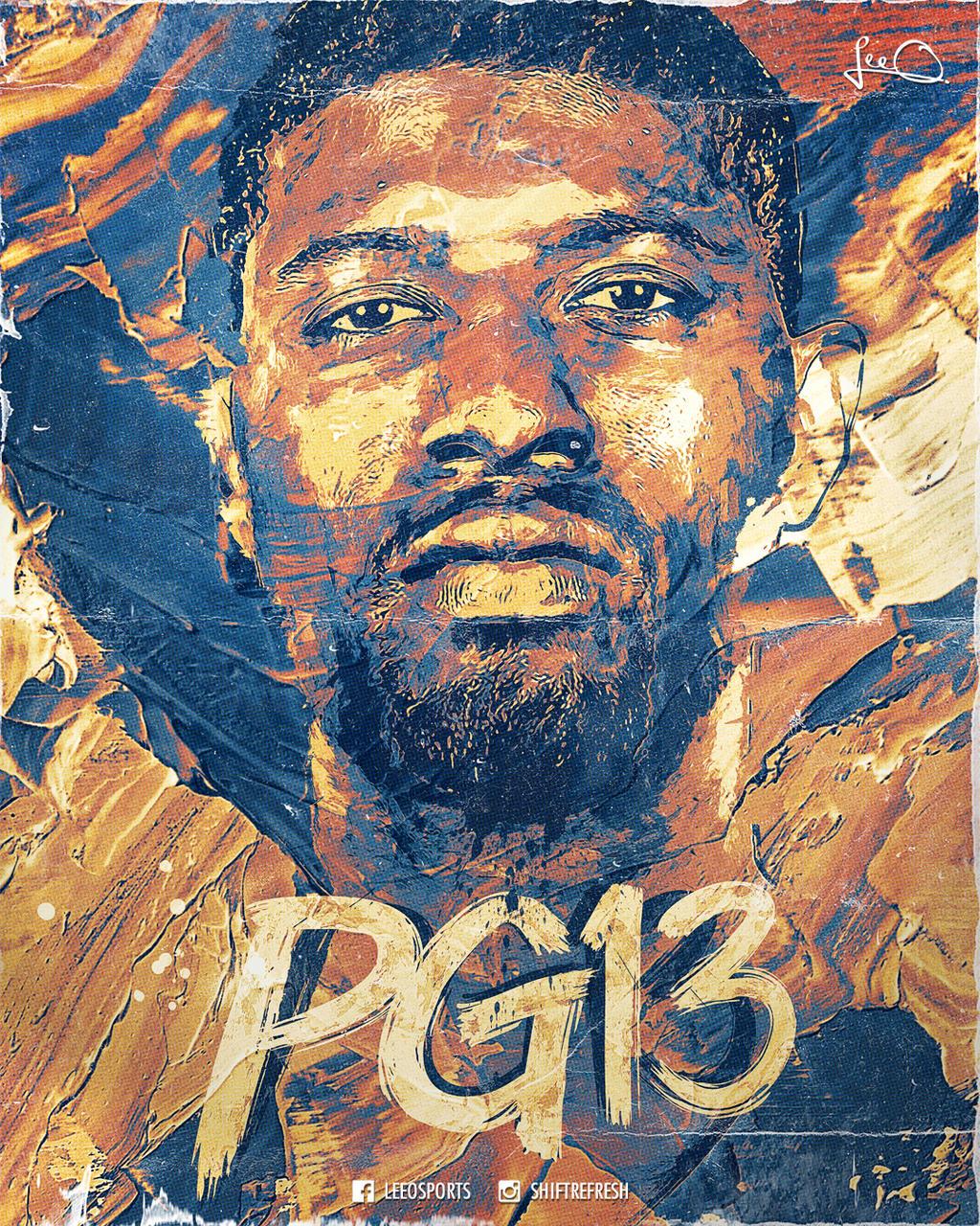 Okc Thunder Wallpaper Hd: Paul George OKC NBA Poster Design By Skythlee On DeviantArt