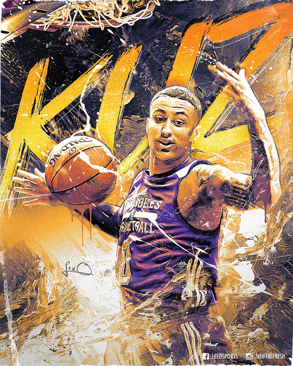Lakers 2019 20 Schedule Wallpaper: Kyle Kuzma Lakers NBA Poster Design By Skythlee On DeviantArt
