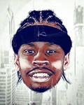 Allen Iverson NBA Caricature Poster