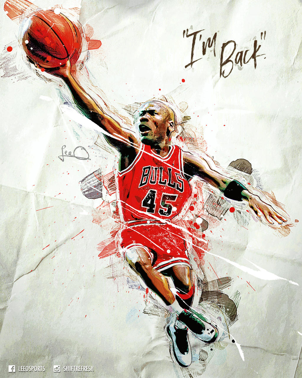 Michael Jordan NBA Caricature Poster by skythlee on DeviantArt