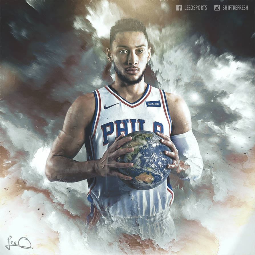 ca83818f29a Ben Simmons - World is Yours - NBA Wallpaper by skythlee on DeviantArt