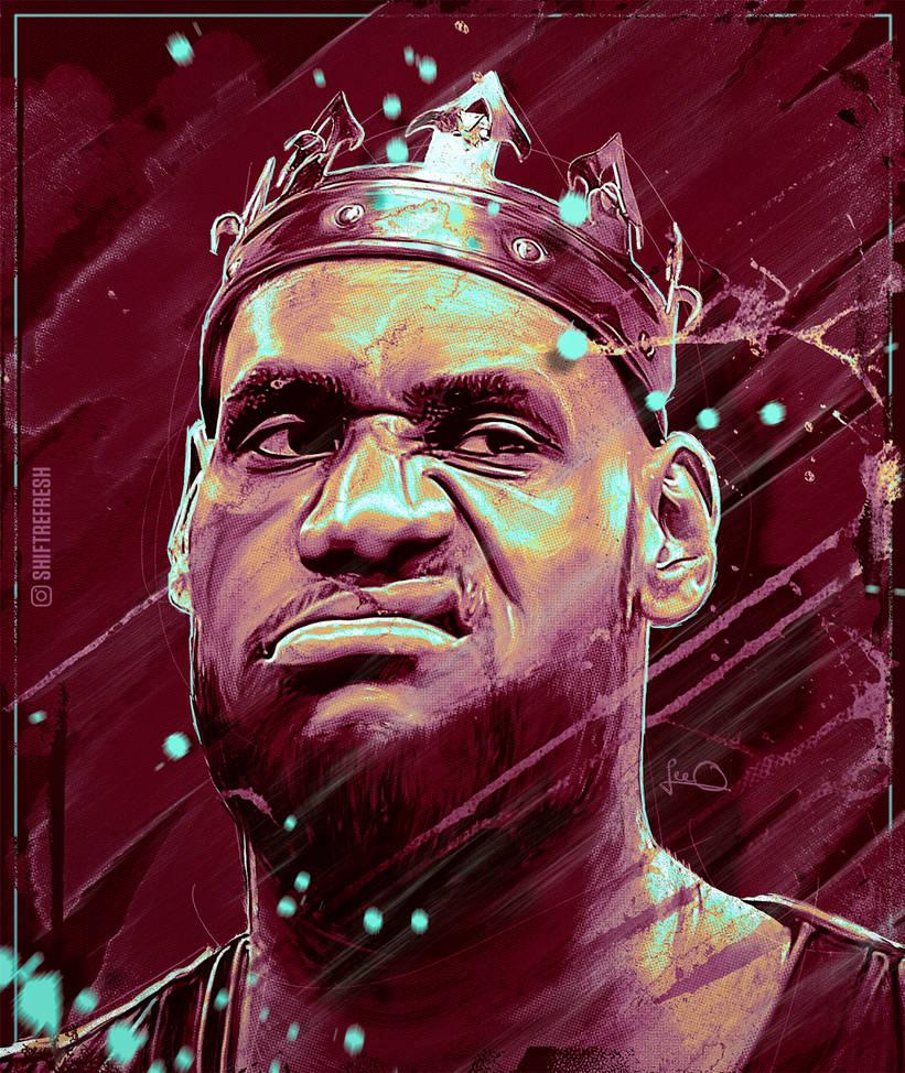 Lebron James NBA Wallpaper / Poster V2 By Skythlee On