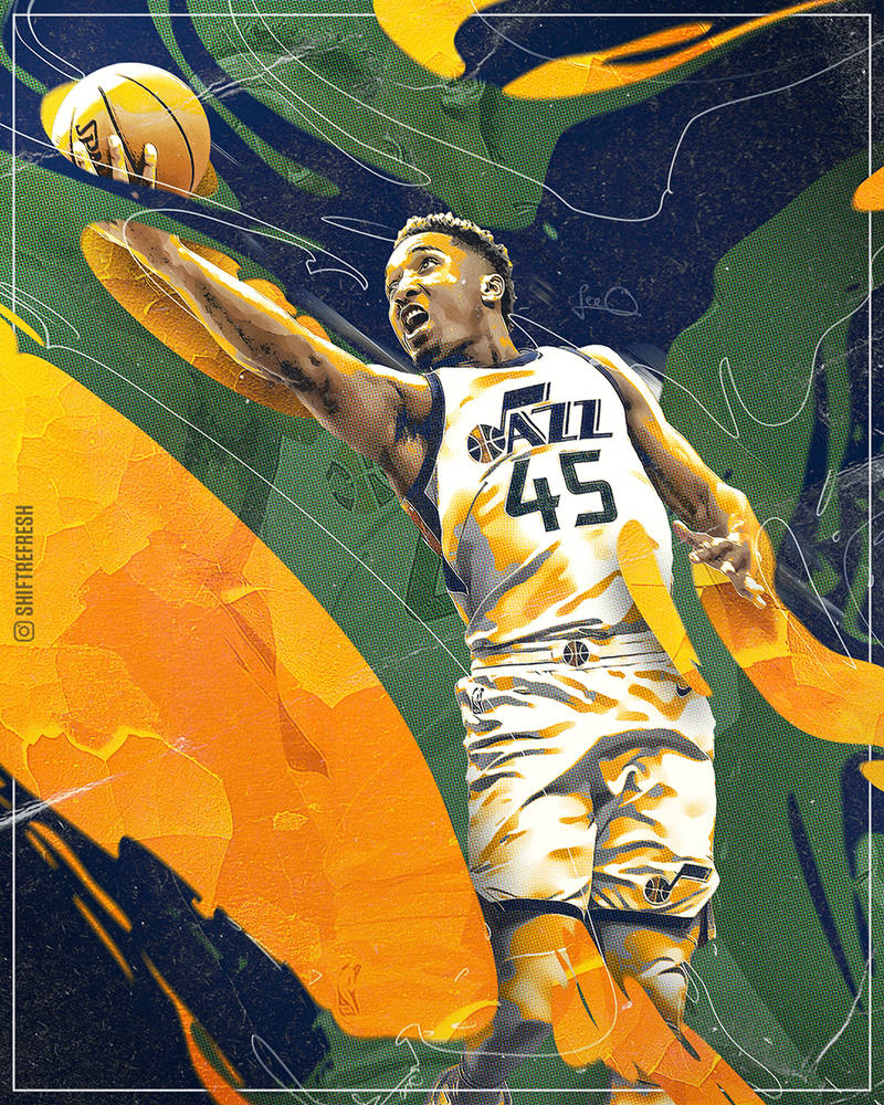 Donovan Mitchell NBA Wallpaper / Poster By Skythlee On