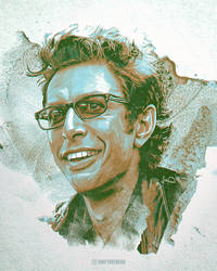 Jeff Goldblum Ian Malcolm Wallpaper Art by skythlee