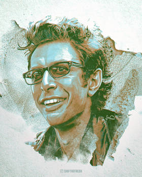 Jeff Goldblum Ian Malcolm Wallpaper Art