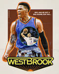 Russell Westbrook Westworld Poster
