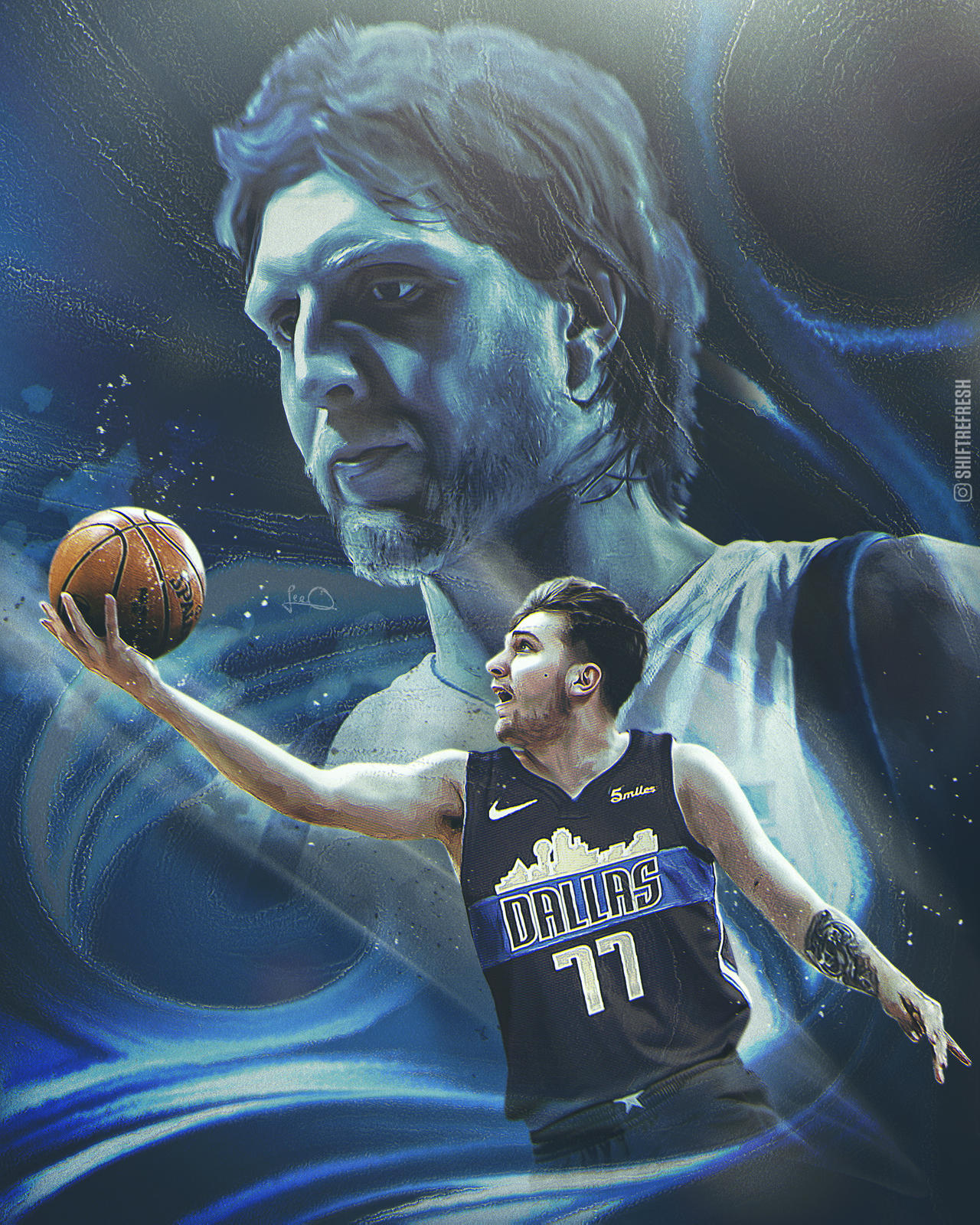 Luka Doncic Mavs Wallpaper By Skythlee On Deviantart