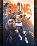 Patrick Ewing NBA Poster Art