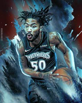Derrick Rose 50 Point Game Artwork