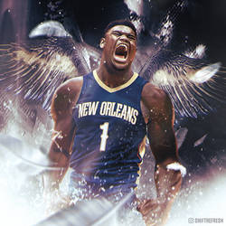 Zion Williamson NBA Pelicans Wallpaper by skythlee