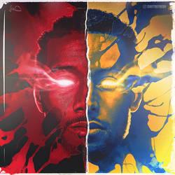 2019 NBA Finals Art - Kawhi vs Steph by skythlee