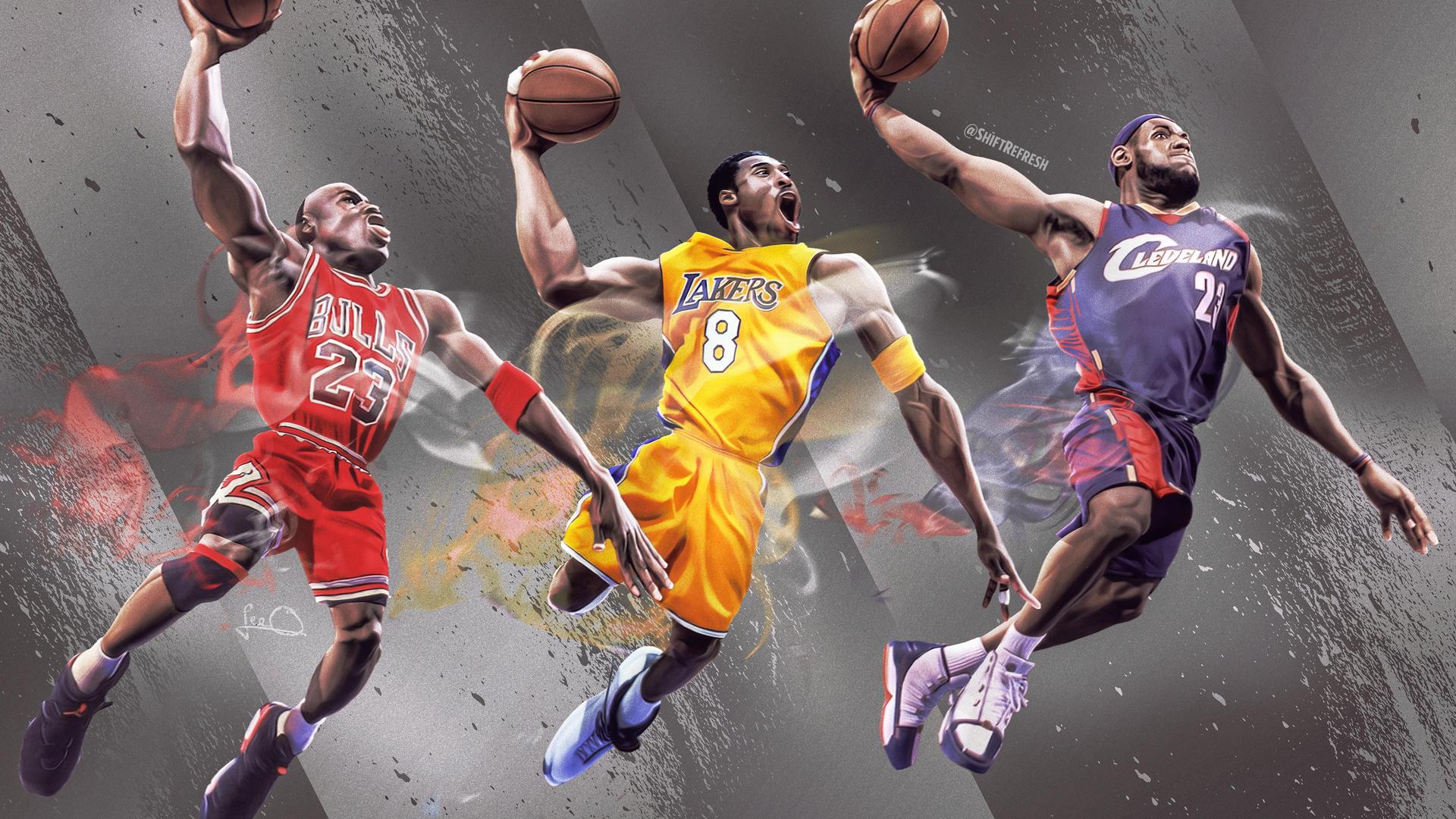 Jordan Kobe Lebron Nba 4k Wallpaper By Skythlee On Deviantart