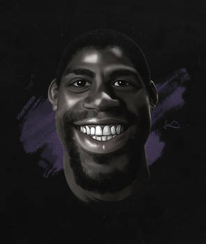 Magic Johnson Caricature