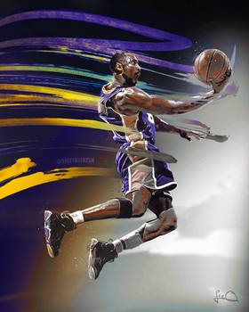Kobe Bryant NBA Art Poster