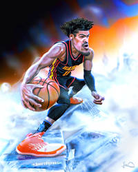 Trae Young NBA Caricature