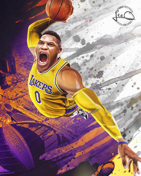 Russell Westbrook Lakers NBA Wallpaper