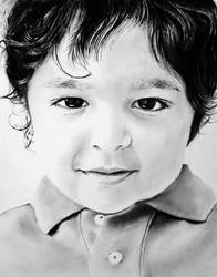 My Nephew in Charcoal