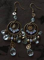 Polia nebulosa: SP earrings by brain-err0r