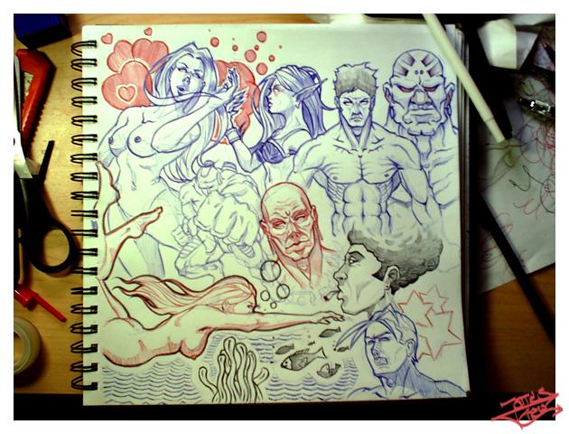 Sketchbookie2 by JamesChew