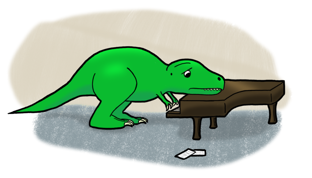 Rex Playing a Piano by TheFancyHatGuy on DeviantArt